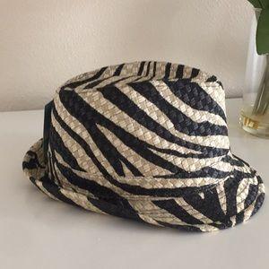 Accessories - Zebra print black and gold fedora hat S M 48d288b635bb